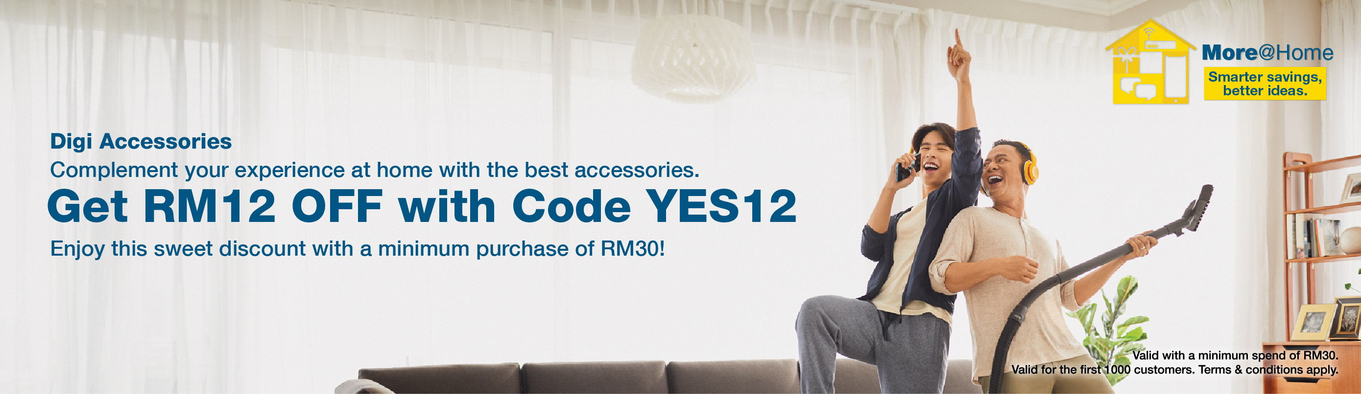 Get RM12 off with code YES12