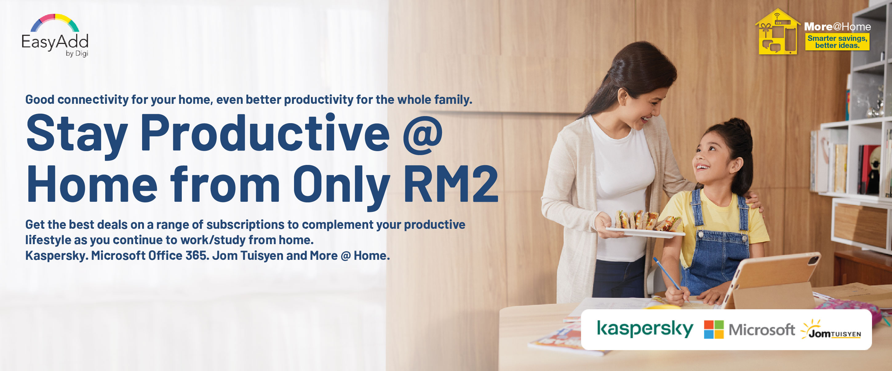 Stay productive @ home from RM2 only