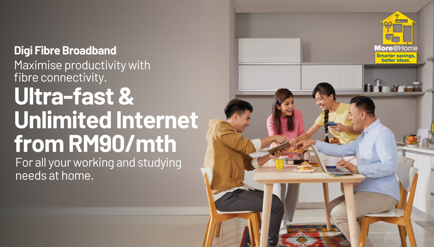 Ultra-Fast and Unlimited Internet from RM90/mth