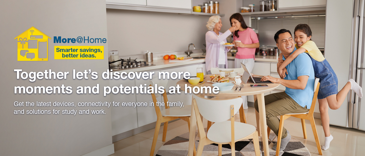 Together let's discover more moments and potentials at home