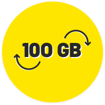 Over 100GB Internet & 100GB Rollover