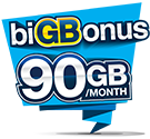 biGBonus RM50 Valid for 30 days