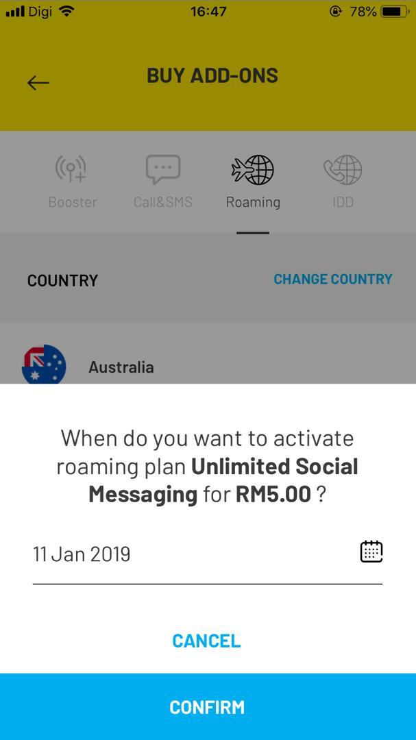 roaming plan date