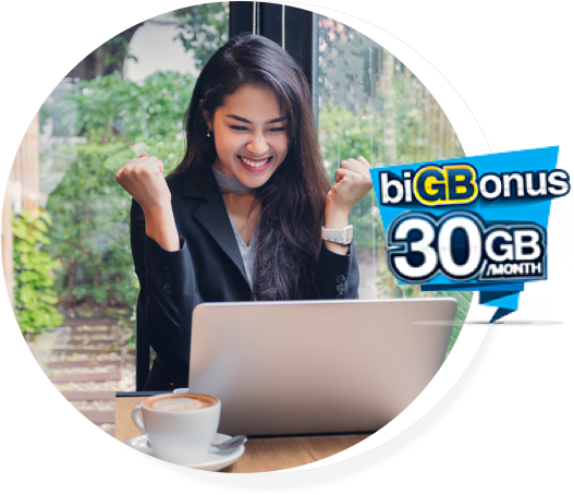 4GB + biGBonus 30GB Unlimited Calls (All Network)