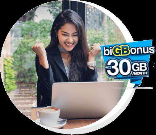 2GB + biGBonus 30GB Unlimited Calls (All Network)